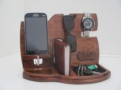 Personalized Men Gift Wooden phone stand Phone dockDocking