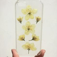 Pressed field wild flowers dried plants clear case for iphone