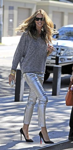 Elle 'The Body' Macpherson knows how to rock metallics!