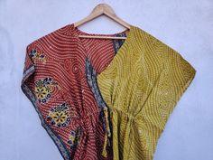 Cotton Kaftan, Cotton Saree, Boho Kimono, Silk Kimono, Festival Outfits, Festival Clothing, Long Summer Dresses, Vintage Coat, Color Khaki