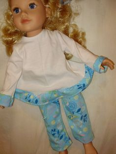 Pajamas 18 inch doll clothes.fits all american by alwaysaladyBetty, $10.00
