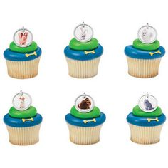 The Secret Life of Pets Dog Tags Cupcake Rings