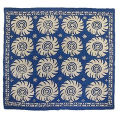 Check out this item at One Kings Lane! Uzbek Royal Blue Palmette Suzani
