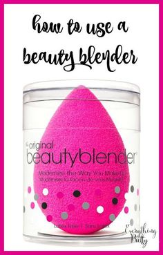 How to Use a Beauty Blender Sponge #makeup #beauty #beautyblender