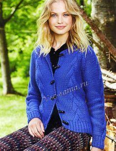 Синий жакет с косами, фото