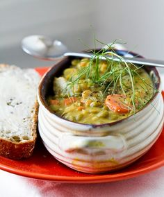 Vegan split pea soup. One of the new recipes that I will try in February! <3