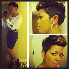 Malinda Williams check her out on the Aspire Network on Exhale, she is one of the host! Malinda Williams check her out on the Aspire Network on Exhale, she is one of the host! Cut My Hair, Love Hair, Great Hair, Gorgeous Hair, Her Hair, Dope Hairstyles, My Hairstyle, Relaxed Hairstyles, Short Sassy Hair