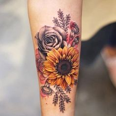 Check out our gallery to get Best Sunflower Tattoo Designs. tattoos Best Sunflower Tattoo Designs In 2020 Body Art Tattoos, Small Tattoos, Tatoos, Wrist Tattoos, Tattoo Ink, Girly Tattoos, Realism Tattoo, Wrist Coverup Tattoos, Tattoos Cover Up