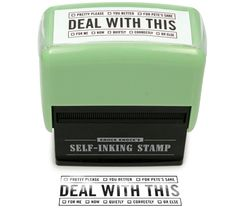 Deal With This Self-inking Stamp