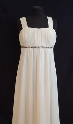 Brautkleid,Standesamtkleid, Seidenkleid, Brautmutterkleid, mother of bride White Dress, Dresses, Fashion, Bridal Gown, Curve Dresses, White Dress Outfit, Gowns, Moda, La Mode