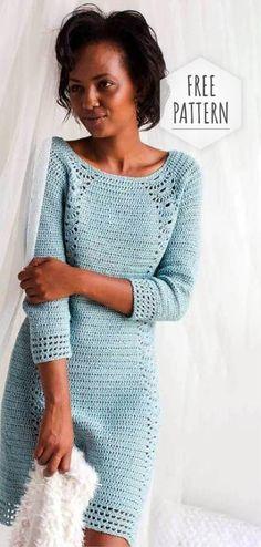 Crochet Blouse Interweave Crochet Winter 2018 Digital Edition - Enjoy the Winter 2018 issue of Interweave Crochet and find cozy patterns to relax in. Crochet Bodycon Dresses, Black Crochet Dress, Crochet Blouse, Crochet Winter Dresses, Dress Winter, Moda Crochet, Pull Crochet, Crochet Top, Interweave Crochet