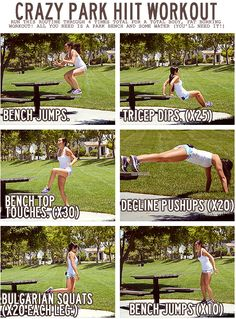 Crazy Park HIIT Workout.  Sounds like the perfect thing to do in the backyard.
