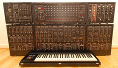 Roland System 700 ~ all 6 modules including the sequencer, really rare ~ this one sold for more than $ 40,000.-     #electronicmusic #synthesizer #instruments #electroacoustic #sound #synthesis