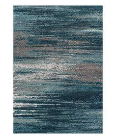Love this Teal & Gray Mod Rug on #zulily! #zulilyfinds