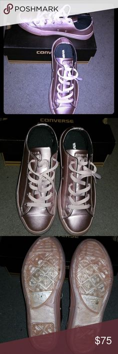 Converse Rose Quartz Sneakers Very pretty rose gold shoes. Only wore once for a photo shoot. They are labeled size 3.5 juniors but I'm a 7 ladies and they fit perfectly. Converse Shoes Sneakers