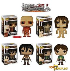Funko Launch Attack On Titan POP Vinyls - I NEED THESE SO BAD.