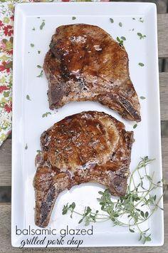 Balsamic Glazed Grilled Pork Chops