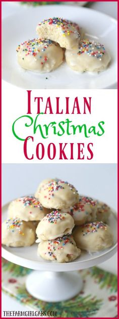 Italian Christmas Cookies are a delicious cake-like cookie with a hint of anise and sweet sugar glaze.