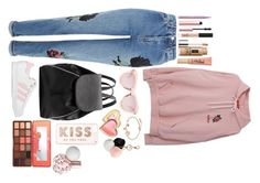 """""""Untitled #66"""" by alexapimkie on Polyvore featuring Topshop, adidas, Witchery, Karen Walker, GUESS, Kate Spade, Too Faced Cosmetics, NARS Cosmetics and Clinique"""