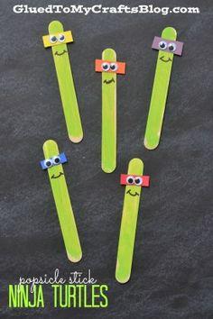 Popsicle Stick Ninja Turtles - Kid Craft