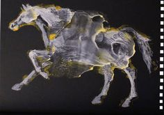 """Saatchi Art Artist Francesca Romana Pinzari; Painting, """"Cavalli per siena, contrada della Lupa"""" #art"""