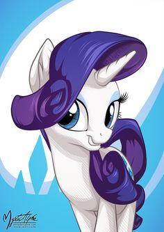Rarity Portrait by mysticalpha.deviantart.com on @DeviantArt