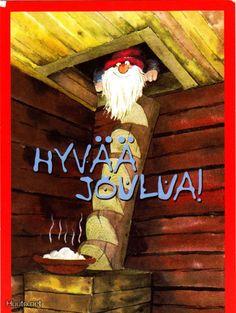 Mauri Kunnas Christmas Books, Christmas Cards, Xmas, Comic Drawing, Christmas Inspiration, Tis The Season, Gnomes, Elves, Finland