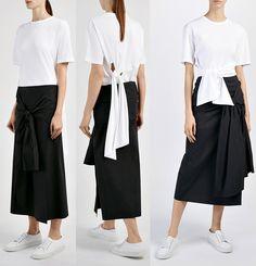 As camisetas brancas e básicas estão com tudo na Europa, mas especialmente os modelos que receberam amarrações bem diferentes…