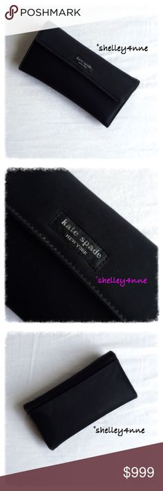 || kate spade || Vintage Nylon Wallet Classic original checkbook wallet with added sentimental value of being my very first...of many! Plenty of storage | Gently used condition with signs of natural wear as shown in photos (primarily worn corners + some exterior scuff marks) recently cleaned the interior myself to remove any evidence of me, lol! kate spade Bags Wallets