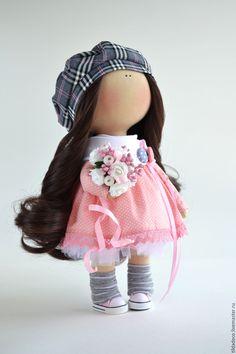 Купить Интерьерная текстильная кукла-девочка Zoe - интерьерная кукла, текстильная кукла, пупс
