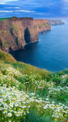 Cliffs of Moher, Ireland. I can say I have been here and was beautiful. Suggest the boat ride that does view from below too.