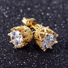#Cute #CZ #Earrings http://www.beads.us/product/Cubic-Zircon-%28CZ%29-Stud-Earring_p331514.html?Utm_rid=219754