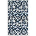 Amherst Navy/Ivory (Blue/Ivory) 6 ft. x 9 ft. Indoor/Outdoor Area Rug