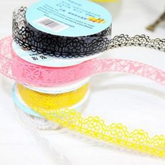 Lace Roll DIY Scrapbooking Paper Decorative Sticky Paper Mask Tape Self Adhesive