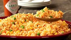 Fragrant, spicy, Mexican-style rice – the ultimate side dish. Adding TABASCO® Original Red to the boil water makes all the difference!