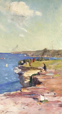 The Blue Pacific (also known as 'The Ocean at Coogee') 1890 by Sir Arthur Streeton