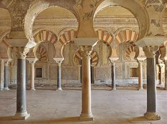 Interior Palacio de Abd al-Rahman III salón rico Islamic World, Islamic Art, Islamic Architecture, Art And Architecture, Middle East Culture, Garden Of Allah, Toledo Spain, Early Middle Ages, Beautiful Sites