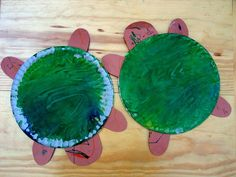 Turtle Craft to go with Yertle the Turtle by Dr. Seuss & There was a Little Turtle song