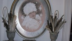 One year I did a fantasy dining room, featuring the Snow Queen. This is her portrait Snow Queen, Dining Room, Fantasy, Mirror, Portrait, Christmas, Home Decor, Xmas, Imagination