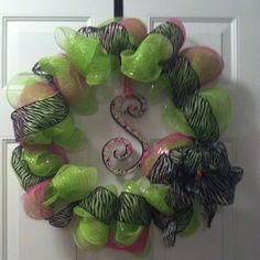 My new wreath I made with the help of Sasha!!!