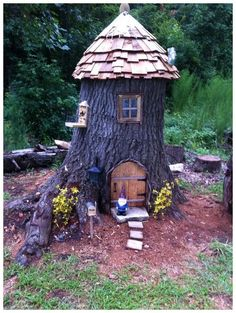✔ 71 what you have to know about gnome garden ideas landscapes and why 68 House & Garden gnome houses for the garden Fairy Garden Houses, Gnome Garden, Garden Trees, Garden Art, Fairy Tree Houses, Gnome House, Gnome Tree Stump House, Most Beautiful Gardens, Miniature Fairy Gardens