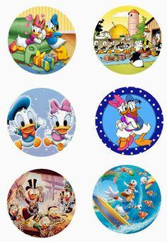 "Donald Duck Free 1"" inch digital bottle cap images"