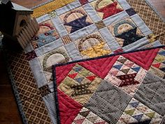 love these little quilts by Kathleen Tracy, would make super cute mug rugs!
