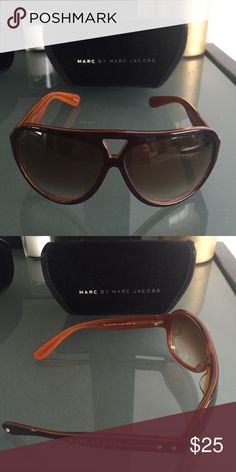 Marc by Marc Jacobs Sunglasses Brown and orange MMJ 019 sunglasses. Discontinued style from Marc by Marc Jacobs. Marc by Marc Jacobs Accessories Sunglasses