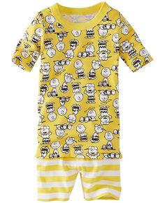 Peanuts Long John Pajamas In Organic Cotton From