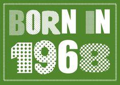 Einladungskarte zum 50. Geburtstag: Born in 1968 ............ **So funktioniert die Bestellung:** Lege einfach die gewünschte Karte in den Warenkorb. Im Warenkorb gibt es ein... Rockabilly Fashion, Rockabilly Style, Happy Birthday Me, Box Art, Birth Year, Petra, Diy Design, Alice, Google