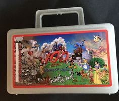 Vintage Whirley 100 Years Of Magic Disney Sparkly Plastic Lunchbox Made In USA #Disney