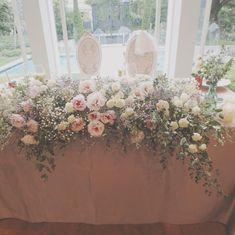 タイプ別!インスタグラムで見つけた可愛い高砂コーディネート実例♡ | marry[マリー] Wedding Bouquets, Wedding Flowers, Wedding Dresses, Blush Pink Weddings, Table Flowers, Wedding Table, Wedding Styles, Table Settings, Wedding Inspiration