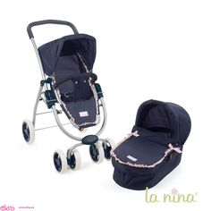 #carritosdemuñecas Cochecitos para muñecas La nina - Cuco (2 en 1) Paula