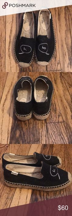 Soludos x Ashkahn Espadrilles Adorable black espadrilles with a slight platform. Great condition - only worn once! Soludos Shoes Espadrilles